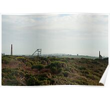 Cornish tin mining landscape Poster