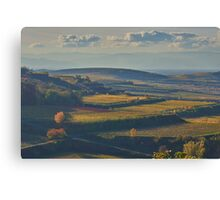 View across the Kaiserstuhl in Autumn Canvas Print
