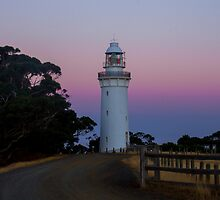 Table Cape Lighthouse at Sunset by Kim Ogden