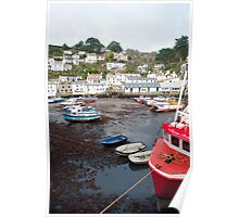 Polperro harbour and cottages Poster