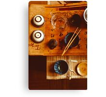 Chinese tea-party Canvas Print