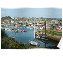 Harbour at Newlyn, Cornwall Poster