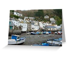 Polperro fishing Village, Cornwall Greeting Card