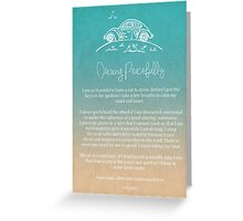Affirmation - Driving Peacefully Greeting Card
