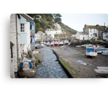 Polperro fishing village, Cornwall Canvas Print
