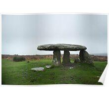 Dolmen or portal tomb, Lanyon Quoit Poster