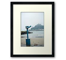 St Michaels Mount in the mist Framed Print