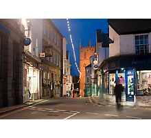Street scene in St Ives, Cornwall Photographic Print