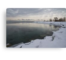 Cold, Gray and Transparent Canvas Print