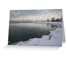 Cold, Gray and Transparent Greeting Card