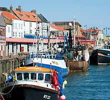 Fishing fleet in Whitby harbour by photoeverywhere