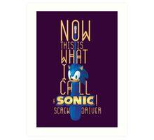 The True Sonic Screwdriver Art Print