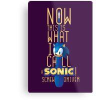 The True Sonic Screwdriver Metal Print