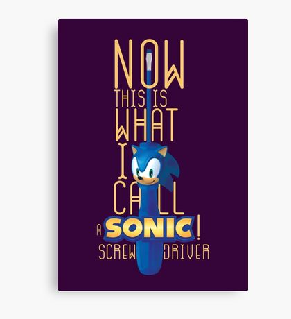 The True Sonic Screwdriver Canvas Print