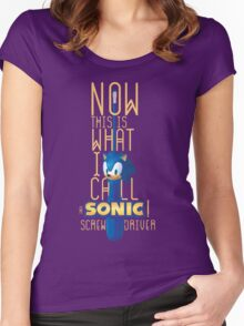 The True Sonic Screwdriver Women's Fitted Scoop T-Shirt