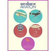 A Brief History of Aviation Photographic Print