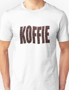 Instant coffee granules spelling koffie (Dutch) Unisex T-Shirt