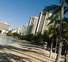 Waikiki beach angled by photoeverywhere