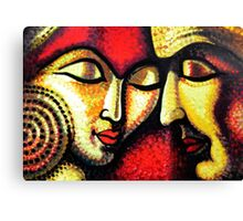 Romantic Love Couple Art Canvas Print