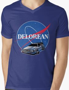 DELOREAN SPACE Mens V-Neck T-Shirt