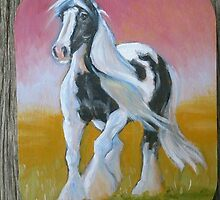 Gypsy Vanner - fridge magnet by louisegreen