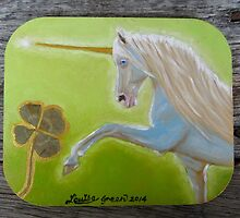 Magical Unicorn - fridge magnet by louisegreen