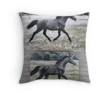 "Unicorn ""Brynne"" - fridge magnet Throw Pillow"