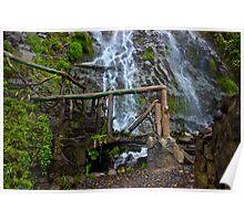 Cascade Waterfall in Banos-Ambato, Ecuador Poster