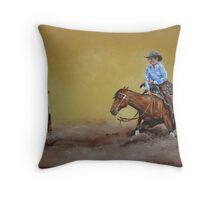 Cutting Horse Throw Pillow