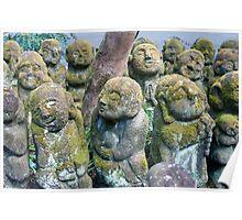 Cute Otagi Nenbutsu-ji Statues Poster