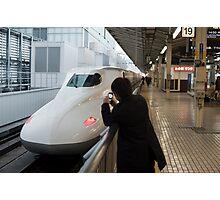 japanese train spotter Photographic Print