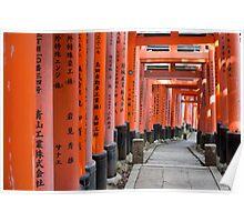 Kyoto Torii gates Poster