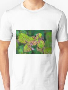 Blackberry Leaf Abstract T-Shirt