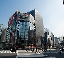 Ginza Crossroads by photoeverywhere