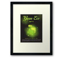 Green Eco Framed Print