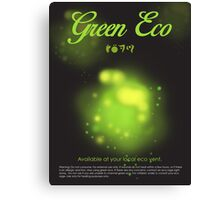 Green Eco Canvas Print