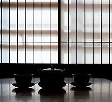 japanese tea slhouette by photoeverywhere