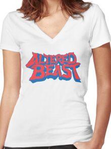 Altered Beast Women's Fitted V-Neck T-Shirt