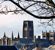 Durham Cathedral - A View Over the Rooftops by Morag Bates