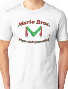 Mario Bros Pipes and Plumbing Unisex T-Shirt