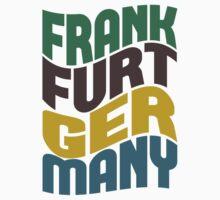 Frankfurt Germany Retro Wave Kids Clothes