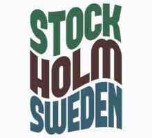 Stockholm Sweden Retro Wave Kids Clothes