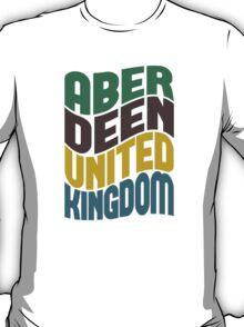 Aberdeen United Kingdom Retro Wave T-Shirt