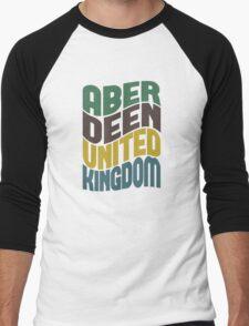 Aberdeen United Kingdom Retro Wave Men's Baseball ¾ T-Shirt