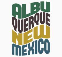 Albuquerque New Mexico Retro Wave Kids Tee