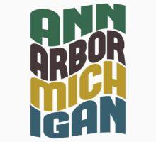 Ann Arbor Michigan Retro Wave Kids Clothes