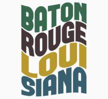 Baton Rouge Louisiana Retro Wave Kids Clothes
