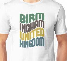 Birmingham United Kingdom Retro Wave Unisex T-Shirt