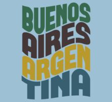 Buenos Aires Retro Wave Kids Clothes