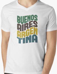 Buenos Aires Retro Wave Mens V-Neck T-Shirt